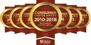 Consumers Choice Awards - Best Foot Care Provider - 9 years