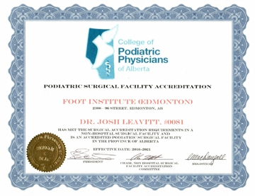 Podiatric Surgical Facilities Accreditation